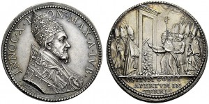 Medaglia commemorativa del Giubileo del 1650 di Innocenzo X Pamphilj