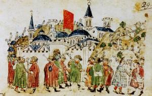 Pellegrini a Roma nel 1300